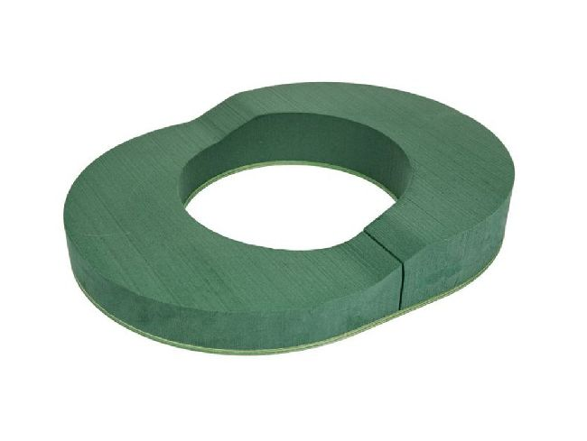 Oasis® Bioline® GRÜN 11-00258 Urnenring oval 45x35cm