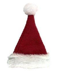 Nikolausmütze/Weihnachtsmütze ROT-WEISS Filz mit Kunstfell Ø4,5xH6cm 14886
