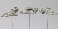 Engel Antonius steinweiss 13395 Poly 3-fach 7,5x3,5x3cm + 12cm Drahtpick