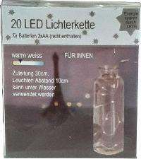 LED Lichterkette 431970 Drahtlichterkette AA Ba 20 LED L190cm+30cmZuleitung