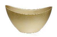 Schiffchen Kunststoff GOLD 24x10x14cm