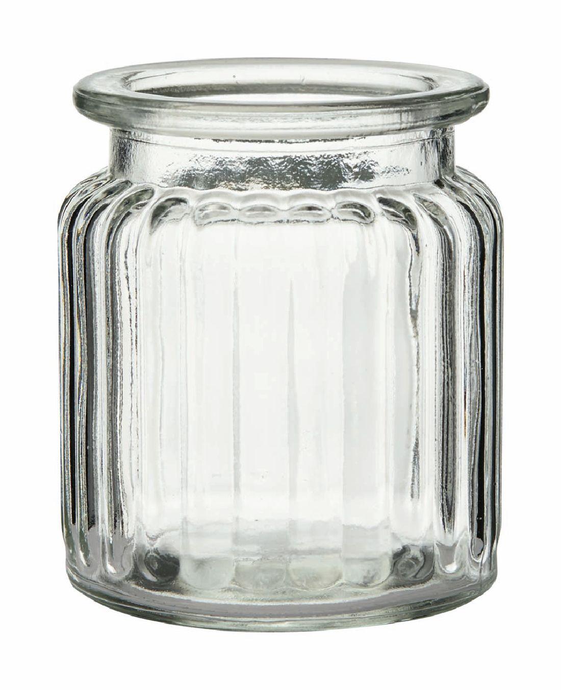 Rundrandglas Vintage gerippt KLAR 260 Ø7,5xH9cm