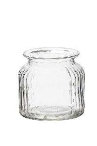 Rundrandglas Vintage gerippt KLAR 522360  8093 Ø11xH10,5cm