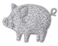 Glücksschweinchen Streudeko SILBER  6622 5cm  Silvesterdeko