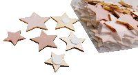 Stern Streudeko Pretty X-MAS ROSA 40470  Holz+Textil 2cm+3cm+4cm mit Klebepad