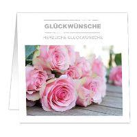 Geschenkkarten LIVING HOME HERZLICHE GLÜCKWÜNSCHE 80x80mm  121120732